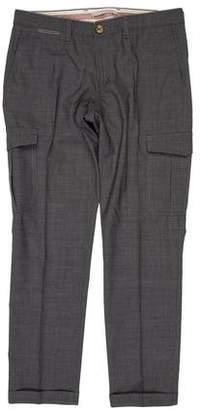 Eleventy Flat Front Wool Pants