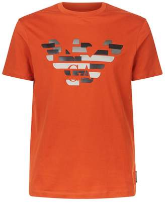 Emporio Armani Broken Eagle Logo T-Shirt