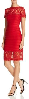Tadashi Shoji Lace Detail Pintucked Dress $348 thestylecure.com