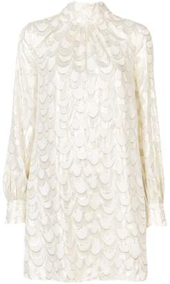 Milly embellished long-sleeve dress