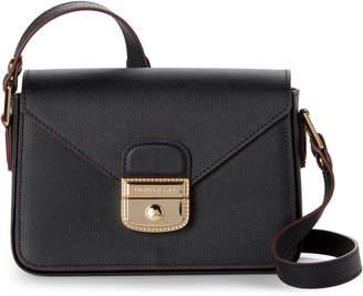 Longchamp Black Le Pliage Heritage Leather Crossbody