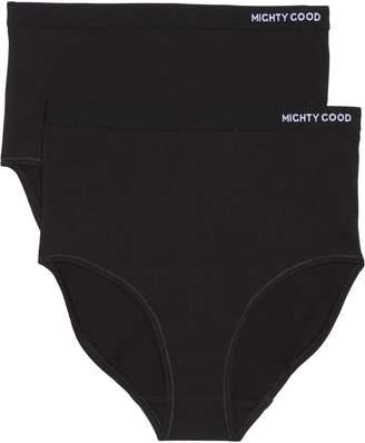 MIGHTY GOOD UNDIES 2-Pack Stretch Organic Cotton High Waist Girlfriend Briefs