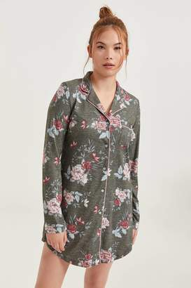 Ardene Floral Button Front Nightgown