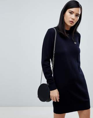 Fred Perry Navy Knit Sweater Dress