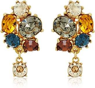 Swarovski Ben-Amun Jewelry Arabian Nights Crystal Button Drop Earrings
