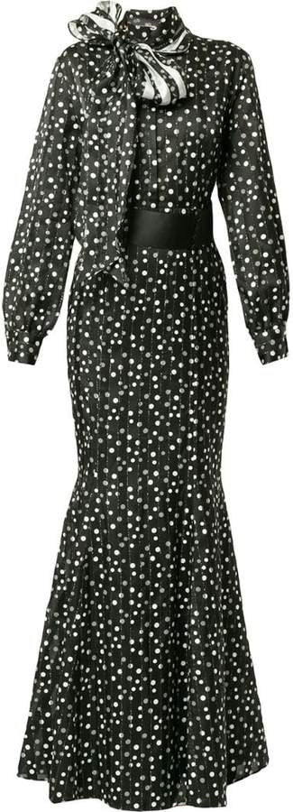 Safiyaa London polka dot dress