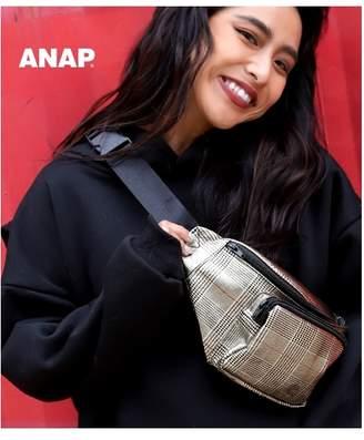ANAP (アナップ) - ANAP グレンチェックメタリックボディバッグ ゴールド