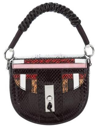 Altuzarra Python Mini Ghianda Saddle Bag w/ Tags