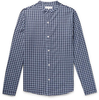 Hamilton and Hare Gingham Cotton And Cashmere-Blend Pyjama Shirt