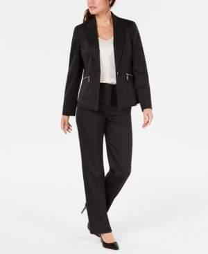 Le Suit Petite Zip-Pocket Pantsuit