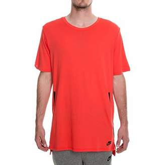 Nike Men's M NSW TB DRPTL BND T-Shirt (Track red/Black)