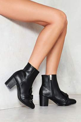 Nasty Gal Knot Your Honey Faux Leather Ankle Boot