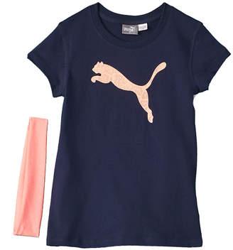 Puma 2Pc T-Shirt & Headband Set