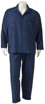Big & Tall Residence Plaid Flannel Pajama Set