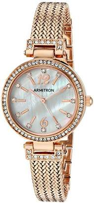Swarovski Armitron Women's 75/5386MPRG Crystal Accented -Tone Mesh Bracelet Watch