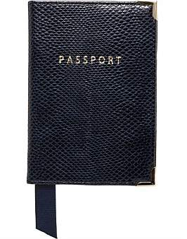 Aspinal of London Leather Passport Cover