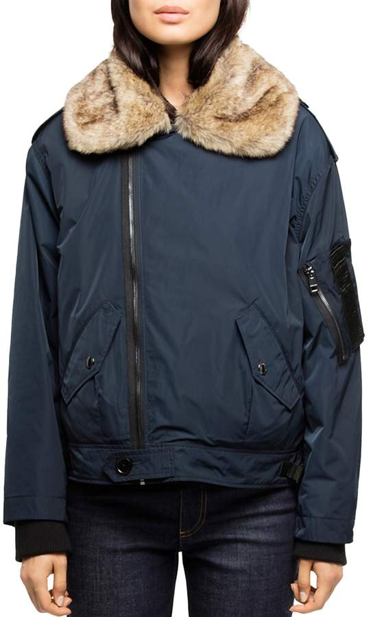 Kassy Faux-Fur Trimmed Convertible Parka
