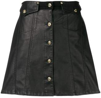 Versace button front mini skirt