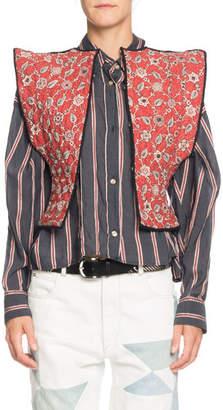 Etoile Isabel Marant Mandie Reversible Quilted Linen Vest
