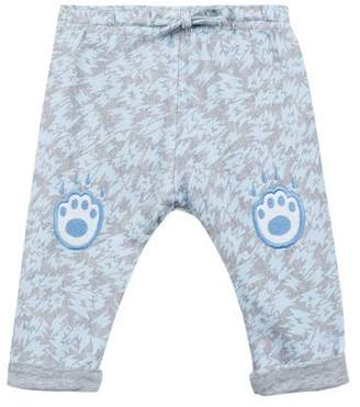 Kenzo Animal-Print Fleece Pants w/ Logo Embroideries, Size 2-3