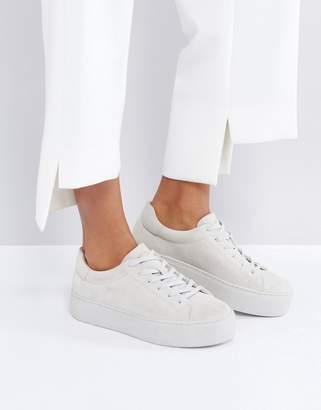 Vagabond Jessie Cream Suede Sneakers
