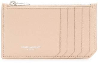 Saint Laurent fragment zipped card