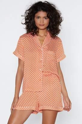 Nasty Gal Mark the Spot Top and Shorts Pajama Set