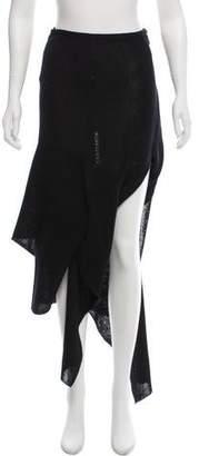 Celine Asymmetrical Knit Maxi Skirt w/ Tags