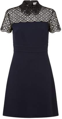 Sandro Lace Collared Mini Dress