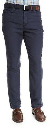 Peter Millar Five-Pocket Twill Pants, Navy $198 thestylecure.com