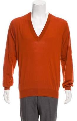 Dolce & Gabbana V-Neck Virgin Wool Sweater