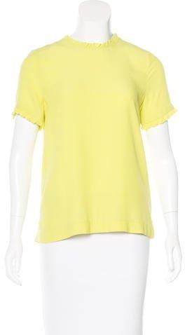 Kate Spade New York Ruffled Short Sleeve Blouse
