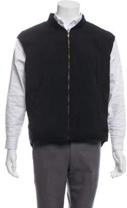 Loro Piana Quilted Hooded Vest navy Quilted Hooded Vest