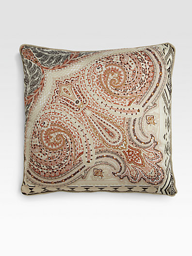 Etro Randall Paisley Accent Pillow