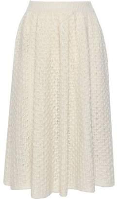 Jil Sander Crocheted Mohair And Silk-blend Midi Skirt