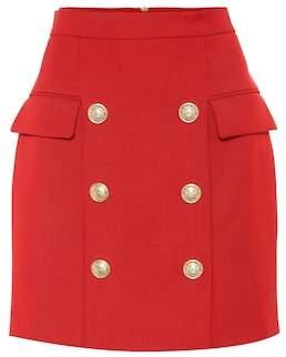 Balmain Wool miniskirt