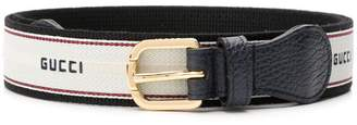 Gucci stripe belt