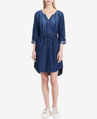 Calvin Klein Jeans Cotton Denim Dress $79.50 thestylecure.com
