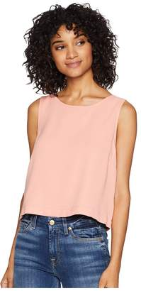 BB Dakota Money Honey Heavy Crepe Top with Chiffon Back Women's Clothing