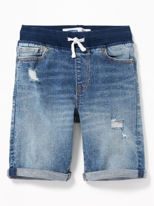 Old Navy Karate Rib-Knit Waist Distressed Jean Shorts for Boys