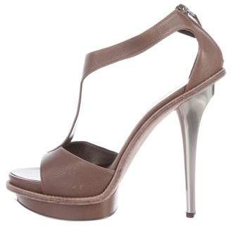 Salvatore Ferragamo T-Strap Platform Sandals
