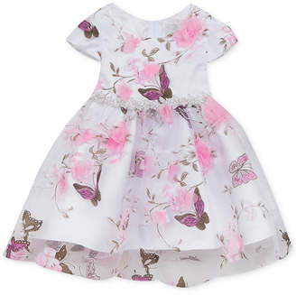 Rare Editions Baby Girls Butterfly-Print Organza Dress