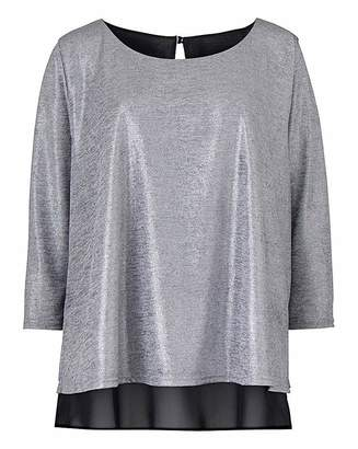 Anthology Jersey/ Woven Overlay Top