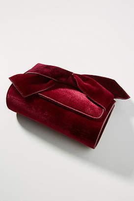 Anthropologie Belle Velvet Envelope Clutch
