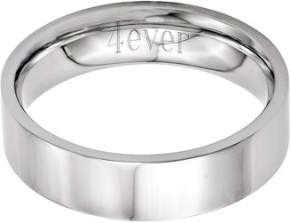 Steel By Design Stainless Steel 6mm Flat Polished Engravable Ring