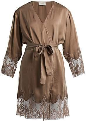 Icons Art Lily silk robe