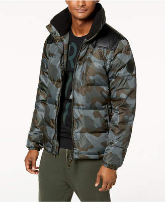 Armani Exchange Men's Camo-Print Puffer Jacket