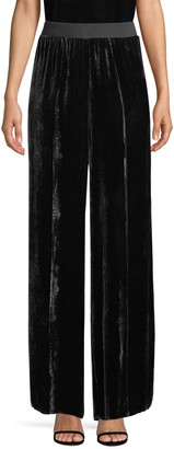 ATM Anthony Thomas Melillo Velvet Wide-Leg Pants