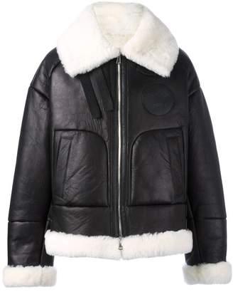 Juun.J shearling bomber jacket
