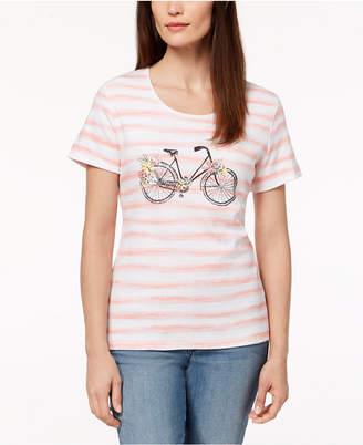 Karen Scott Bicycle Graphic-Print T-Shirt, Created for Macy's